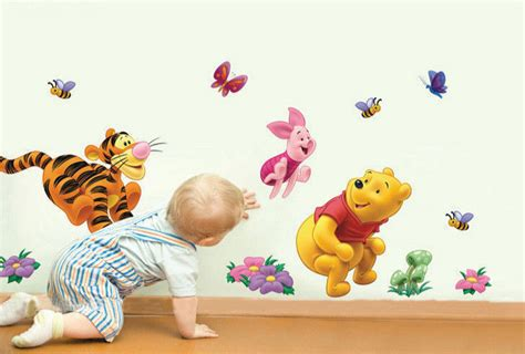 winnie the pooh nursery wall stickers disney winnie the pooh tigger piglet friends nursery wall sticker decal wall well and