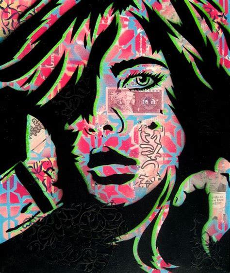 pin  min  graffiti arts stencil street art stencil