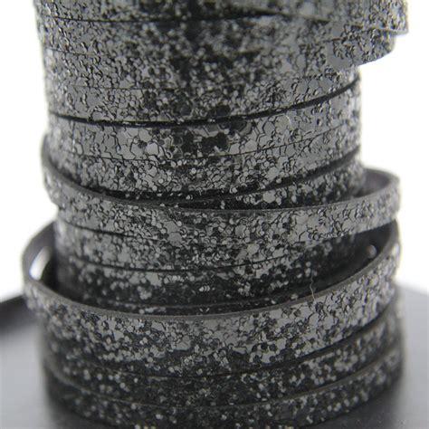Black Silver Glitter 6mm Cord Tali Glitter Hitam Perak black glitter flat 6 2mm cord