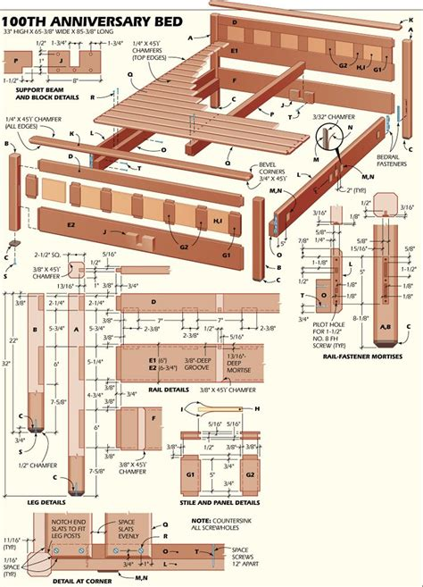 bed plans woodworking woodworker magazine
