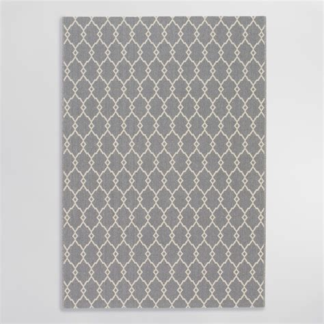 Gray Outdoor Rug Gray Lace Indoor Outdoor Area Rug World Market