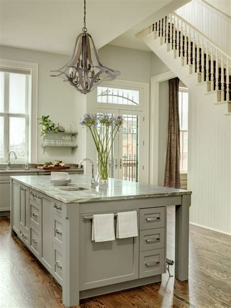 painted islands for kitchens gray kitchen island transitional kitchen porters paint fossil mitchell wall