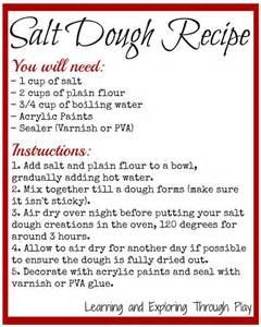 salt dough recipes dough recipe and salt dough on pinterest