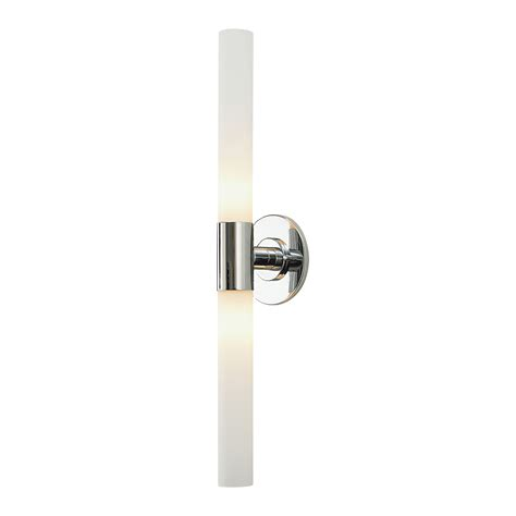 Long Double Cylinder Bath Vanity Light By Alico Industries Bathroom Lighting Sconces Chrome