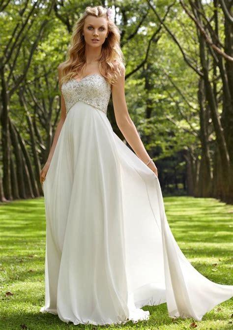 Casual Summer Outdoor Wedding Dress   Sangmaestro
