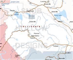 plumas county california map plumas county california color map
