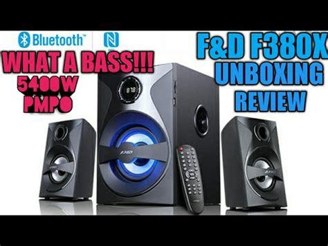F D Bluetooth Hitam F380x f d f380x bluetooth 2 1 speaker unboxing and review