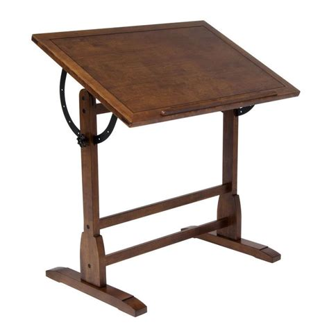 Antique Oak Drafting Table Studio Designs Rustic Oak Vintage Drafting Table