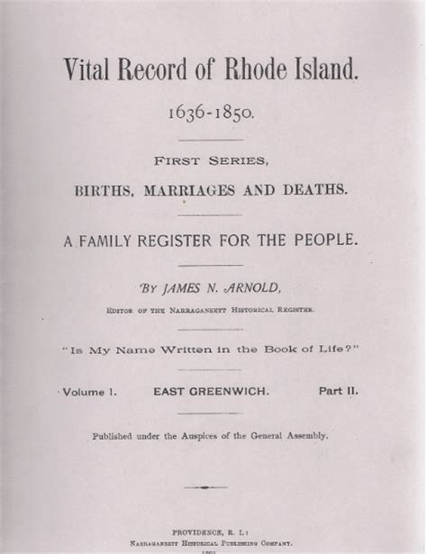 Marriage Records Rhode Island 1st Generation Susannah Spencers Of East
