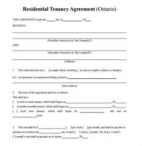 Simple Residential Lease Agreement Template by Sle Residential Rental Agreement 12 Exles Format