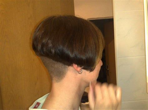 shaved nape styles a line with high buzzed nape short bob haircuts