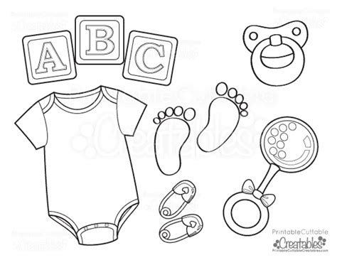 coloring pages baby items baby onesie free printable coloring page