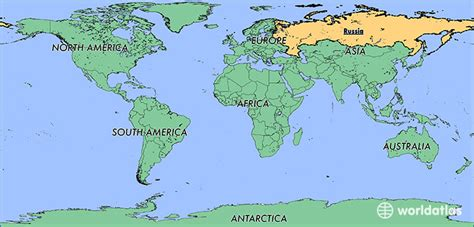 russia map of the world where is russia where is russia located in the world