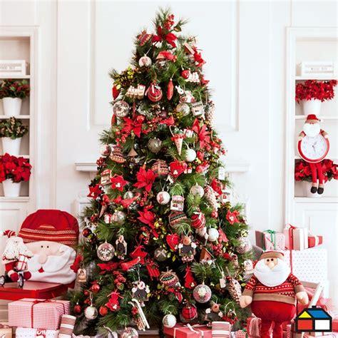 arbol navidad rojo navidad pinterest