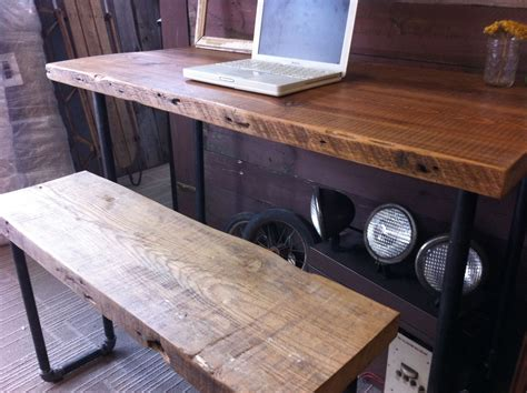 buy a crafted industrial salvaged wood desk made to