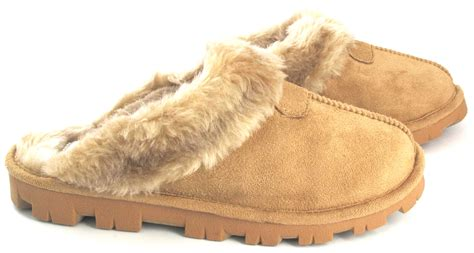 comfortable slippers womens ladies womens slip on warm fur lined winter comfortable