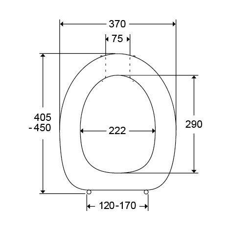 toilet seat dimensions mm toilet seat dania with cover 50 mm raised