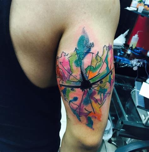watercolor tattoo dc the most amazing 100 plane pictures best