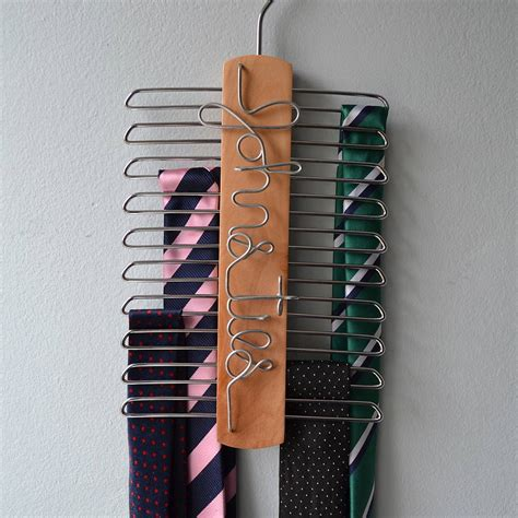 Tie Hanger - personalised tie hanger by clouds and currents