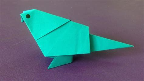 Make Paper Bird - how to make a paper bird easy origami birds for