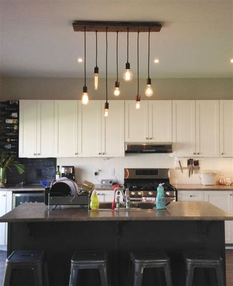 Dining Chandelier Rustic Modern 7 Pendant Lights Antique Kitchen Drop Lights