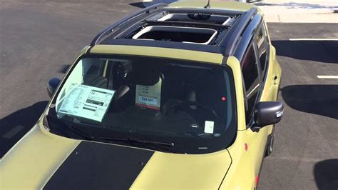 jeep renegade sunroof jeep renegade my sky sunroof demonstration youtube