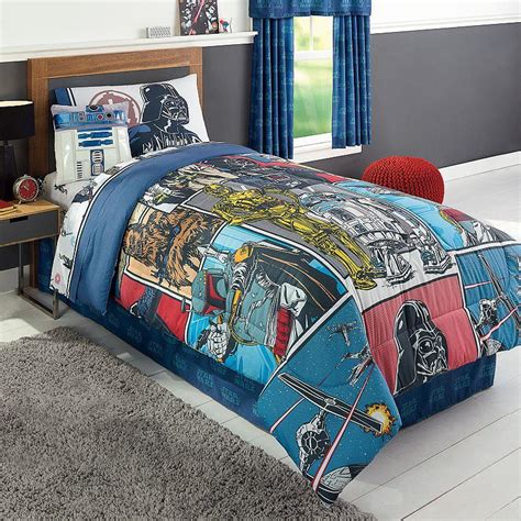 star wars queen bedding star wars reversible comforter full from kohl s