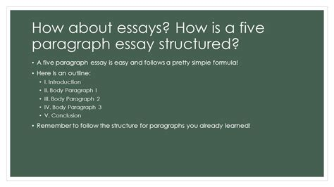 Formulaic Five Paragraph Essays by Structure Of An Essay Introduction Writing Your Essay Unsw Current Students Essay Structure