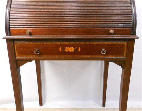 small ladies writing desk ladies edwardian inlaid mahogany tambour rollfront small