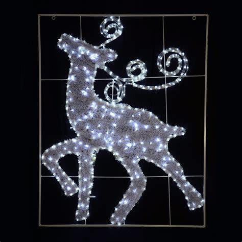 rope lighted christmas deer 90cm led rope light reindeer festive decoration sign ebay