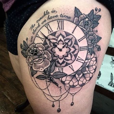 mandala tattoo time mandala clock tattoo xxx pinterest clock