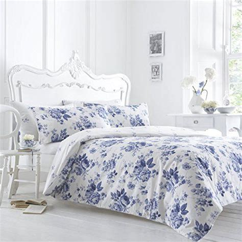 White Single Bedding Sets Classic Vantona Floral Bedding Duvet Cover Pillowcase Set Blue White Single Size Dove