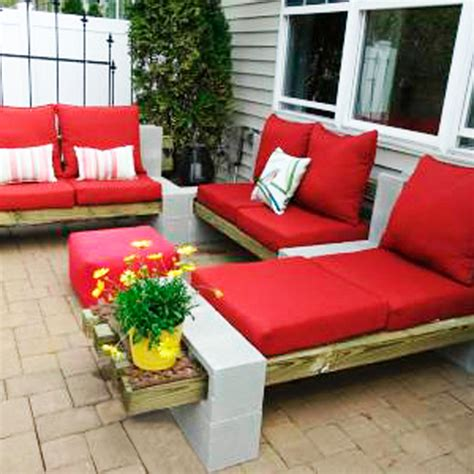 Cinder Block Patio Furniture Featured 5 Outdoor Projects
