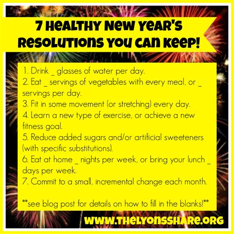 7 healthy new year s resolutions you can keep