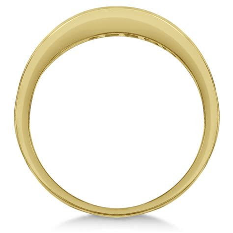 Yellow Saphire 33 1ct princess cut channel set blue sapphire ring band 14k