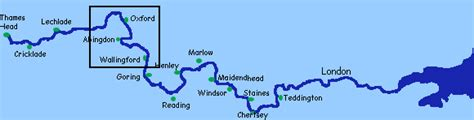 Map Of River Thames From Source To Mouth | river thames