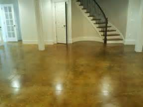 concrete basement floor staining and sealing concrete basement floor