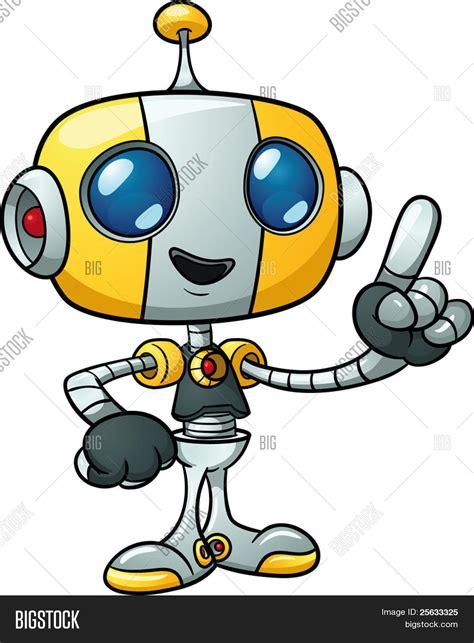 imagenes de robots kawaii cute cartoon robot holding finger vector photo bigstock