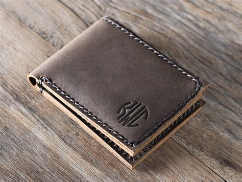 Handcrafted Leather Wallet - magnificent minimalist handmade leather bifold wallet