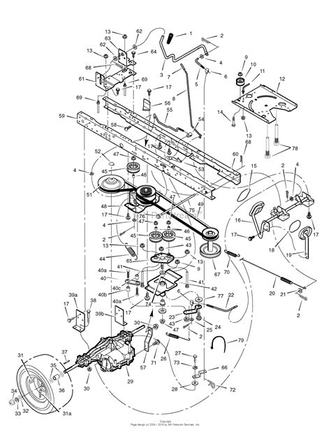 lawn mower part diagram murray 465617x51a lawn tractor 2007 parts diagram for