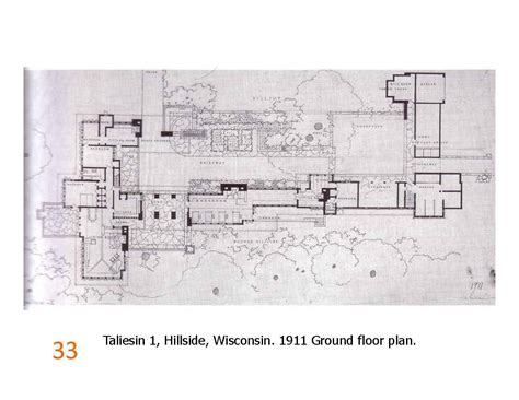 taliesin west floor plan taliesin 1 ground floor plan 1911 frank lloyd wright