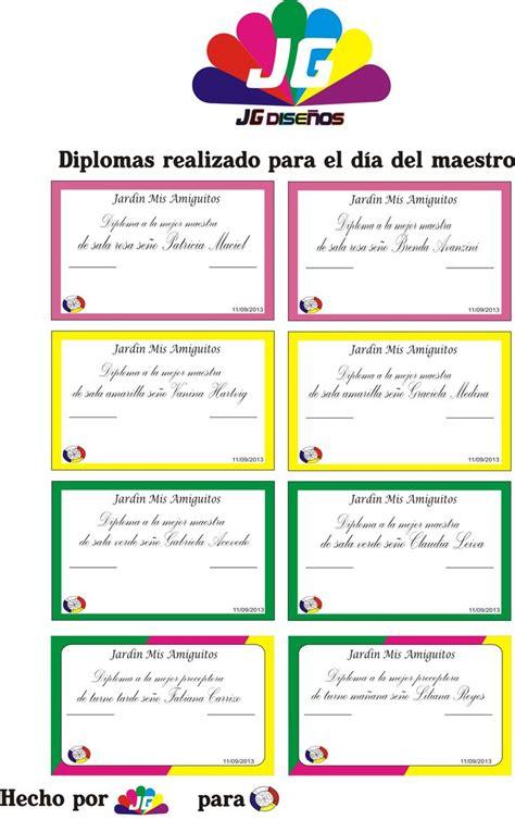frases dia del jardin trabajo realizado diplomas para el d 237 a del maestro d 237 a