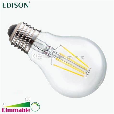 Light Bulb Vs Led New Dimmable Edison Cob Filament Globe Light E27 E26 Led 110 240v 4w 6w 8w Led Bulb L Vs 60w