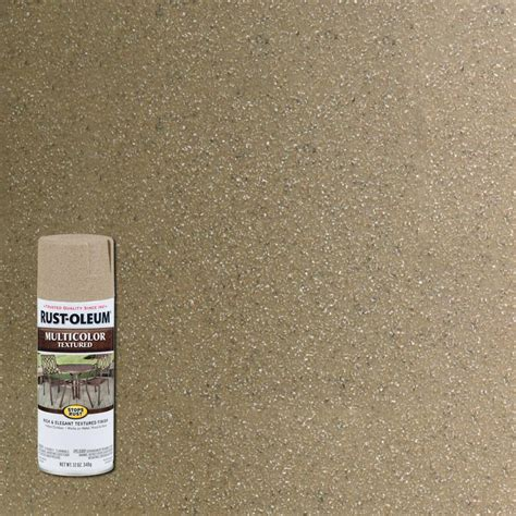 rust oleum stops rust 12 oz desert bisque protective enamel multi colored textured spray paint