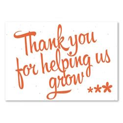 Thank You For Helping Us Grow Card