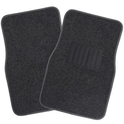Automotive Floor Mats by Charcoal Ash Smoke Gray Carpet Mat 4 Pc Pads Liner Car