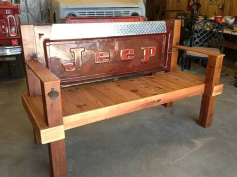 bench made from truck tailgate benches made from truck tail gate tailgate porch bench
