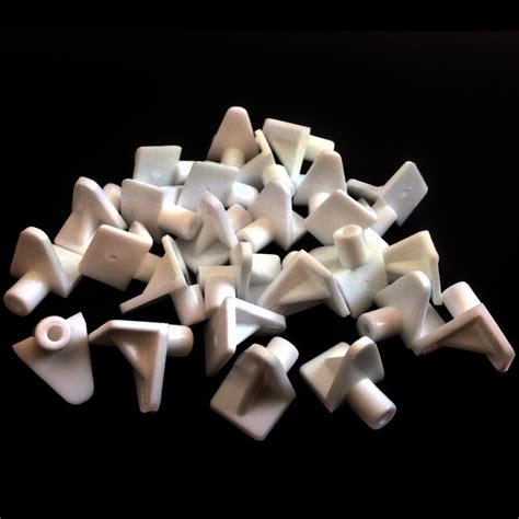 white plastic 5mm m5 shelf support stud pegs kitchen