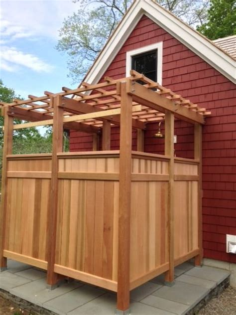 how to make an outdoor bathroom cedar outdoor shower archives the tool reporter