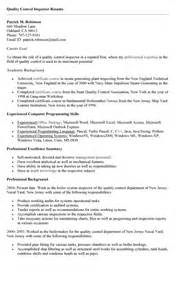 Munitions Inspector Sle Resume by Inspectors Resume Sales Inspector Lewesmr